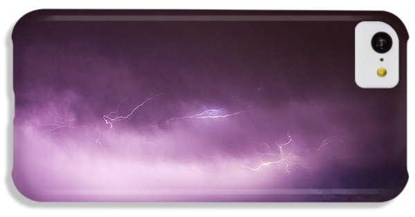 Nebraskasc iPhone 5c Case - Nebraska Night Thunderstorms 013 by NebraskaSC