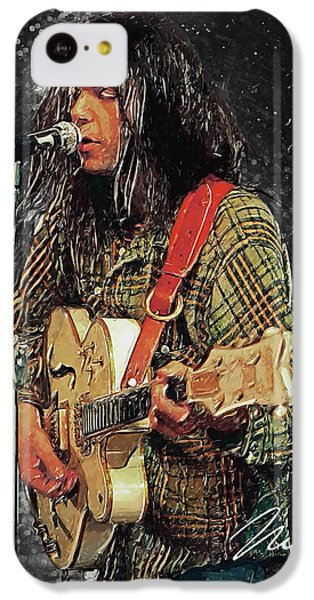 Folk Art iPhone 5c Case - Neil Young by Taylan Apukovska