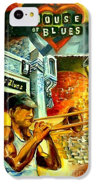 Trombone iPhone 5c Case - New Orleans' House Of Blues by Diane Millsap