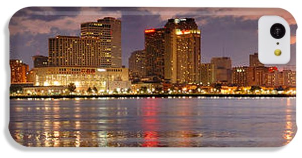 City Sunset iPhone 5c Case - New Orleans Skyline At Dusk by Jon Holiday