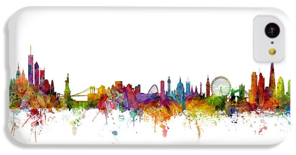 New York And London Skyline Mashup IPhone 5c Case