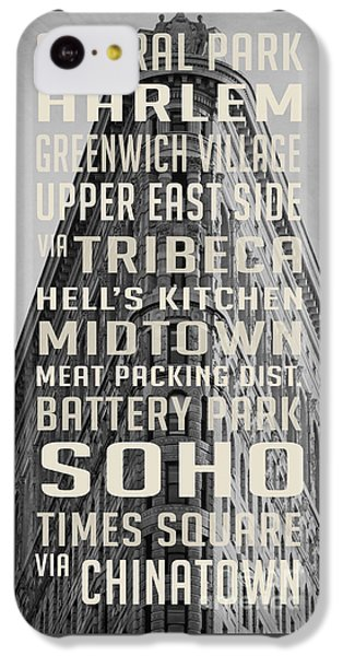 New York City Subway Stops Flat Iron Building IPhone 5c Case