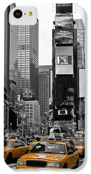 City Scenes iPhone 5c Case - New York City Times Square  by Melanie Viola