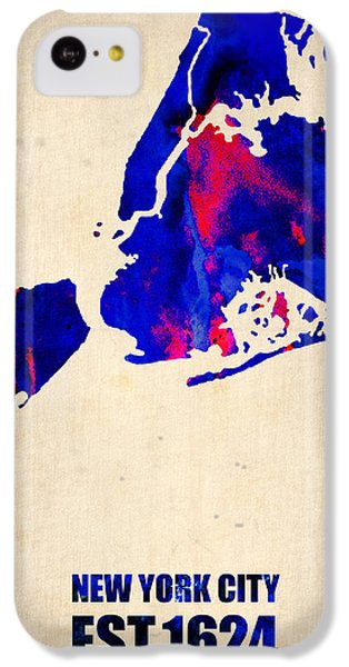New York City Watercolor Map 1 IPhone 5c Case