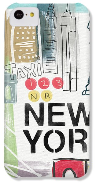 New York Cityscape- Art By Linda Woods IPhone 5c Case by Linda Woods