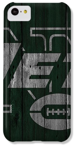 New York Jets Wood Fence IPhone 5c Case by Joe Hamilton