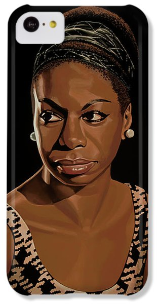 Rhythm And Blues iPhone 5c Case - Nina Simone Painting 2 by Paul Meijering