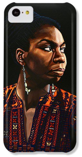 Rhythm And Blues iPhone 5c Case - Nina Simone Painting by Paul Meijering