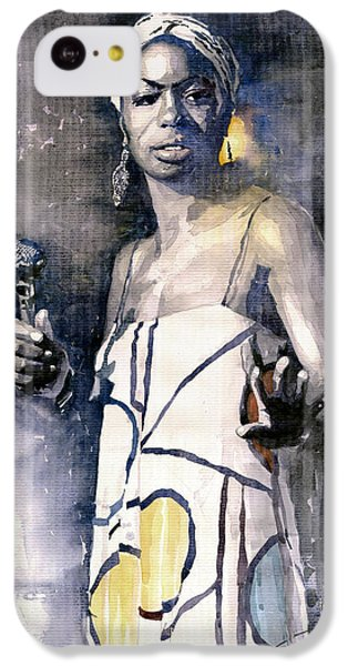 Jazz iPhone 5c Case - Nina Simone by Yuriy Shevchuk