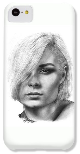 iPhone 5c Case - Nina Nesbitt Drawing By Sofia Furniel by Jul V
