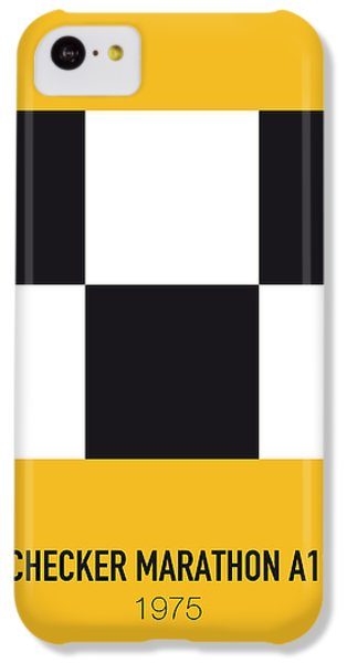 Duke iPhone 5c Case - No002 My Taxi Driver Minimal Movie Car Poster by Chungkong Art