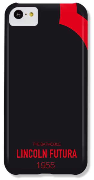 Austin iPhone 5c Case - No006 My Batmobile Minimal Movie Car Poster by Chungkong Art