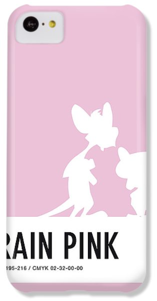 Pig iPhone 5c Case - No01 My Minimal Color Code Poster Pinky And The Brain by Chungkong Art