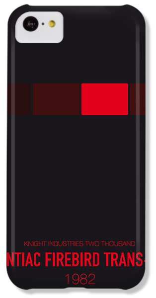 Knight iPhone 5c Case - No019 My Knight Rider Minimal Movie Car Poster by Chungkong Art