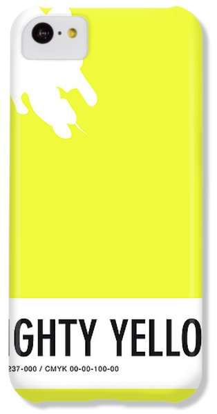 Woodpecker iPhone 5c Case - No02 My Minimal Color Code Poster Mighty Mouse by Chungkong Art