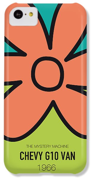 Knight iPhone 5c Case - No020 My Scooby Doo Minimal Movie Car Poster by Chungkong Art