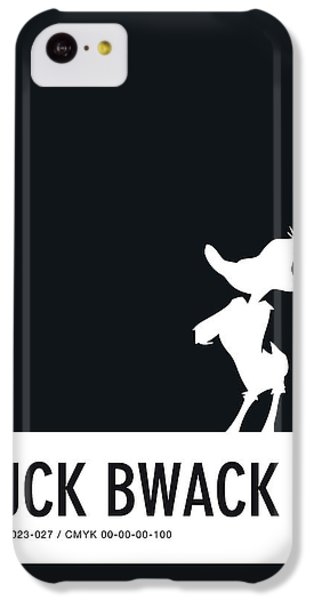 Woodpecker iPhone 5c Case - No03 My Minimal Color Code Poster Daffy Duck by Chungkong Art