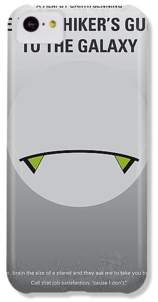Aliens iPhone 5c Case - No035 My Hitchhiker Guide Minimal Movie Poster by Chungkong Art