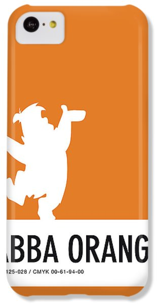 Pig iPhone 5c Case - No04 My Minimal Color Code Poster Fred Flintstone by Chungkong Art