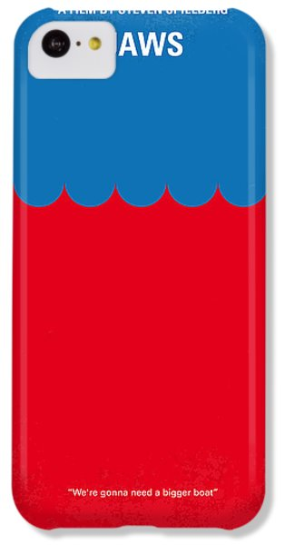 Sharks iPhone 5c Case - No046 My Jaws Minimal Movie Poster by Chungkong Art