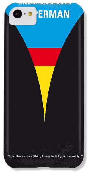 Planets iPhone 5c Case - No086 My Superman Minimal Movie Poster by Chungkong Art