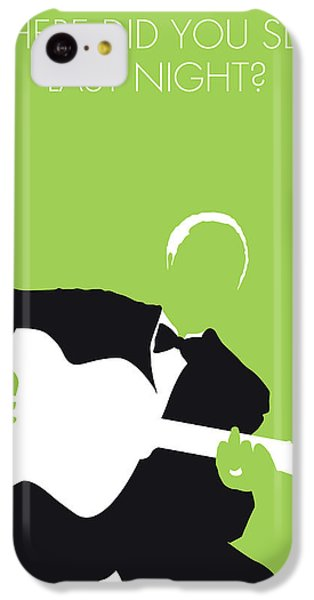 Folk Art iPhone 5c Case - No096 My Lead Belly Minimal Music Poster by Chungkong Art