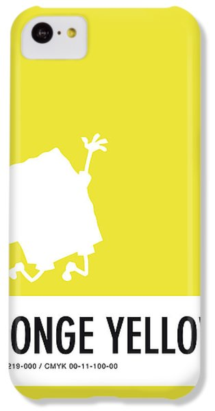 Woodpecker iPhone 5c Case - No10 My Minimal Color Code Poster Spongebob by Chungkong Art