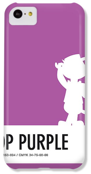 Pig iPhone 5c Case - No11 My Minimal Color Code Poster Top Cat by Chungkong Art