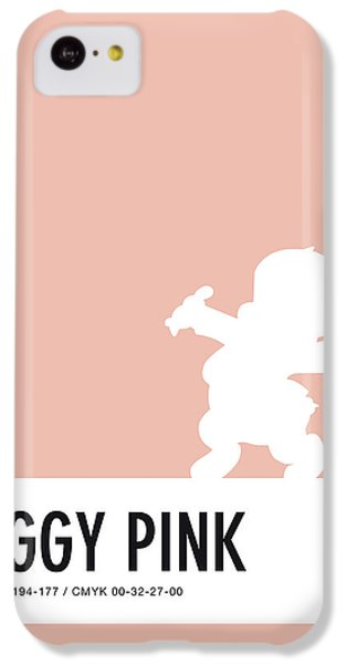 Mice iPhone 5c Case - No17 My Minimal Color Code Poster Porky Pig by Chungkong Art