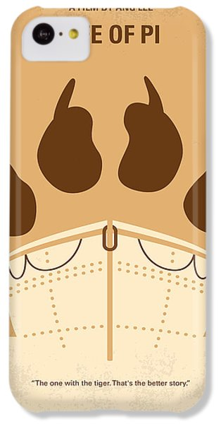 Tiger iPhone 5c Case - No173 My Life Of Pi Minimal Movie Poster by Chungkong Art