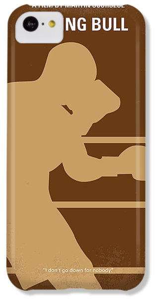 Bull iPhone 5c Case - No174 My Raging Bull Minimal Movie Poster by Chungkong Art