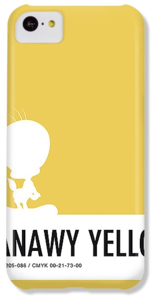 Woodpecker iPhone 5c Case - No18 My Minimal Color Code Poster Tweety by Chungkong Art