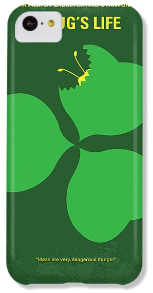 Grasshopper iPhone 5c Case - No401 My A Bugs Life Minimal Movie Poster by Chungkong Art
