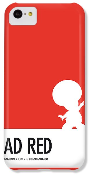 Floral iPhone 5c Case - No41 My Minimal Color Code Poster Toad by Chungkong Art