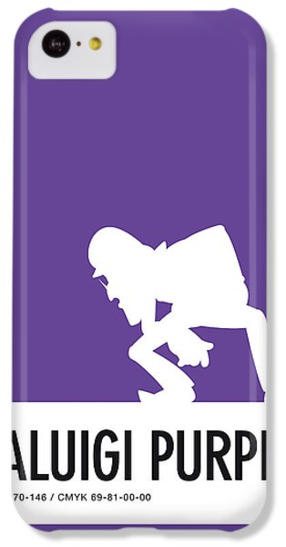 Floral iPhone 5c Case - No42 My Minimal Color Code Poster Waluigi by Chungkong Art