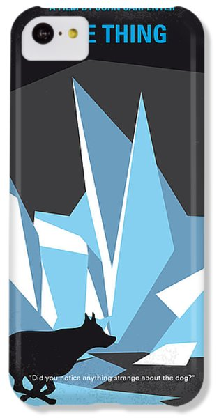 Helicopter iPhone 5c Case - No466 My The Thing Minimal Movie Poster by Chungkong Art