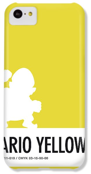 Floral iPhone 5c Case - No43 My Minimal Color Code Poster Wario by Chungkong Art
