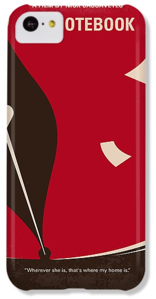 Duke iPhone 5c Case - No440 My The Notebook Minimal Movie Poster by Chungkong Art