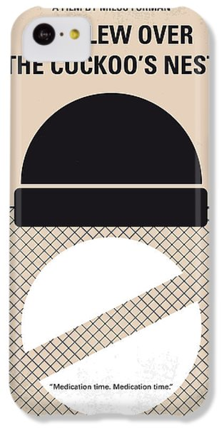 Jack Nicholson iPhone 5c Case - No454 My One Flew Over The Cuckoos Nest Minimal Movie Poster by Chungkong Art