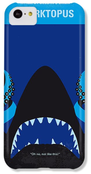 Sharks iPhone 5c Case - No485 My Sharktopus Minimal Movie Poster by Chungkong Art