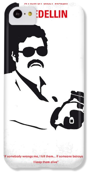 South America iPhone 5c Case - No526 My Medellin Minimal Movie Poster by Chungkong Art