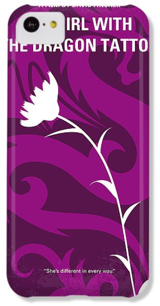 Dragon iPhone 5c Case - No528 My The Girl With The Dragon Tattoo Minimal Movie Poster by Chungkong Art