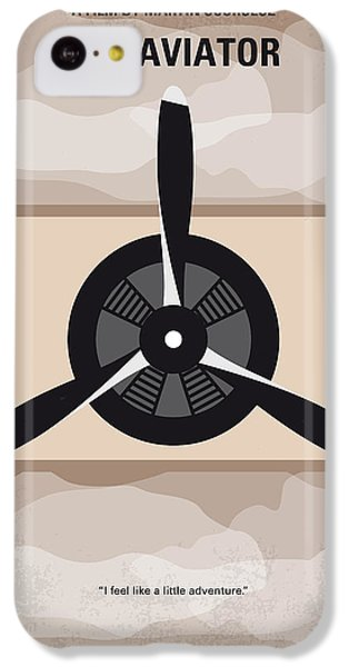 Airplane iPhone 5c Case - No618 My The Aviator Minimal Movie Poster by Chungkong Art