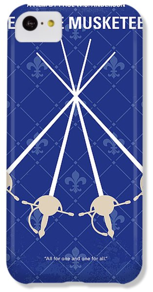 Cardinal iPhone 5c Case - No724 My The Three Musketeers Minimal Movie Poster by Chungkong Art