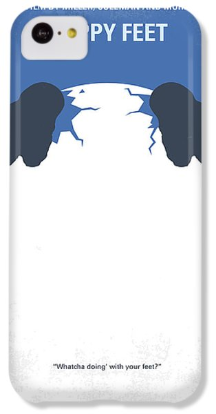 Penguin iPhone 5c Case - No744 My Happy Feet Minimal Movie Poster by Chungkong Art