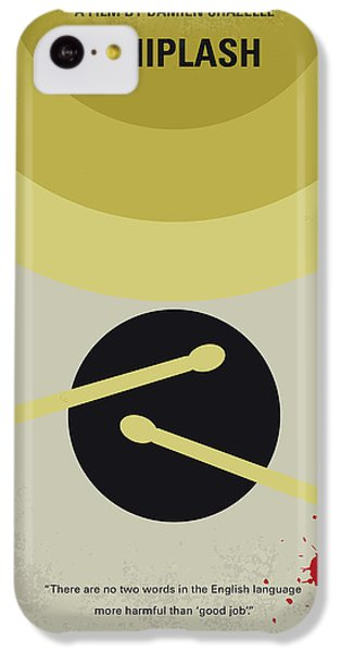 Drum iPhone 5c Case - No761 My Whiplash Minimal Movie Poster by Chungkong Art