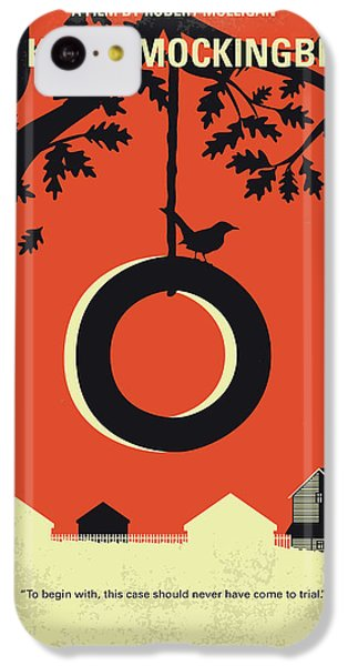 Finch iPhone 5c Case - No844 My To Kill A Mockingbird Minimal Movie Poster by Chungkong Art