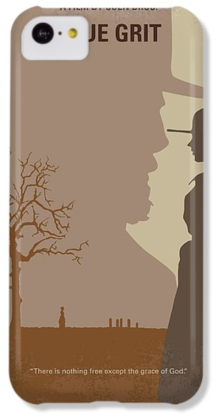 Universities iPhone 5c Case - No860 My True Grit Minimal Movie Poster by Chungkong Art