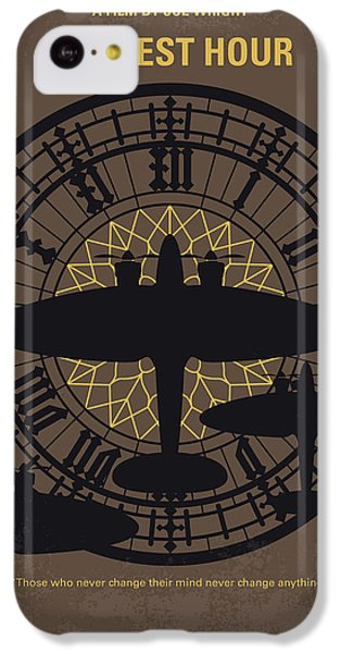 Big Ben iPhone 5c Case - No901 My Darkest Hour Minimal Movie Poster by Chungkong Art
