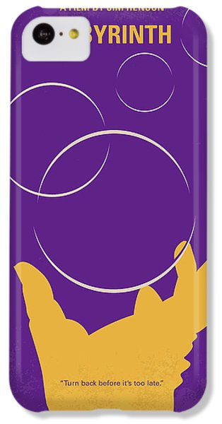 Knight iPhone 5c Case - No928 My Labyrinth Minimal Movie Poster by Chungkong Art